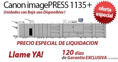 Comprar una Canon imagePRESS 1135+