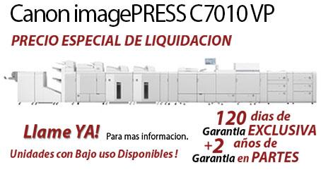 Comprar una Canon imagePRESS C7010VP