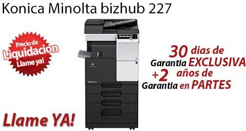 Comprar una Konica Minolta bizhub 227
