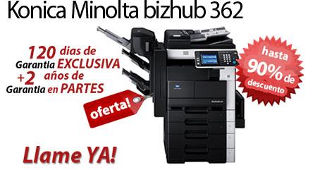 Comprar una Konica Minolta bizhub 362