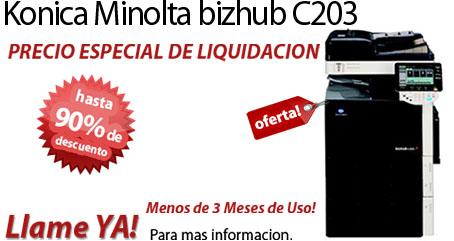 Comprar una Konica Minolta bizhub C203