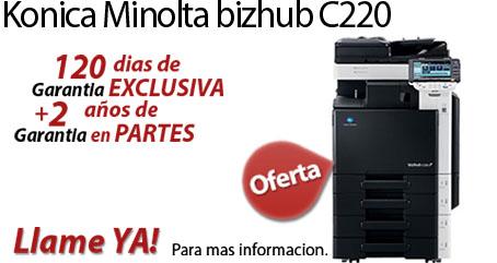 Comprar una Konica Minolta bizhub C220