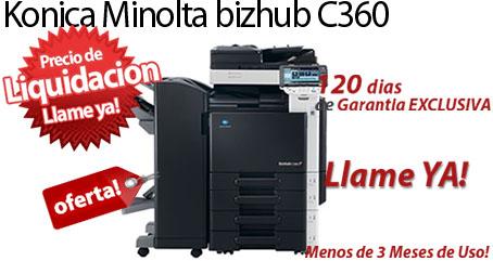 Comprar una Konica Minolta bizhub C360