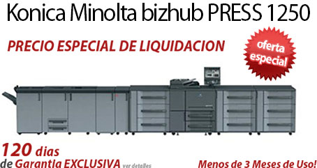 Comprar una Konica Minolta bizhub PRESS 1250