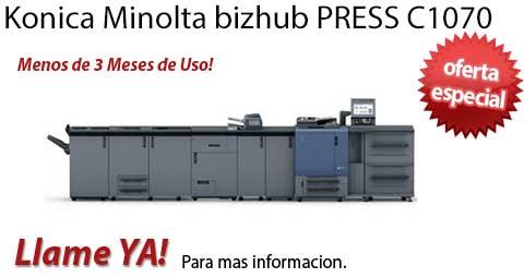 Comprar una Konica Minolta bizhub PRESS C1070