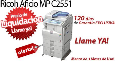 Comprar una Ricoh Aficio MP C2551