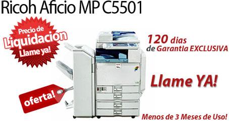 Comprar una Ricoh Aficio MP C5501