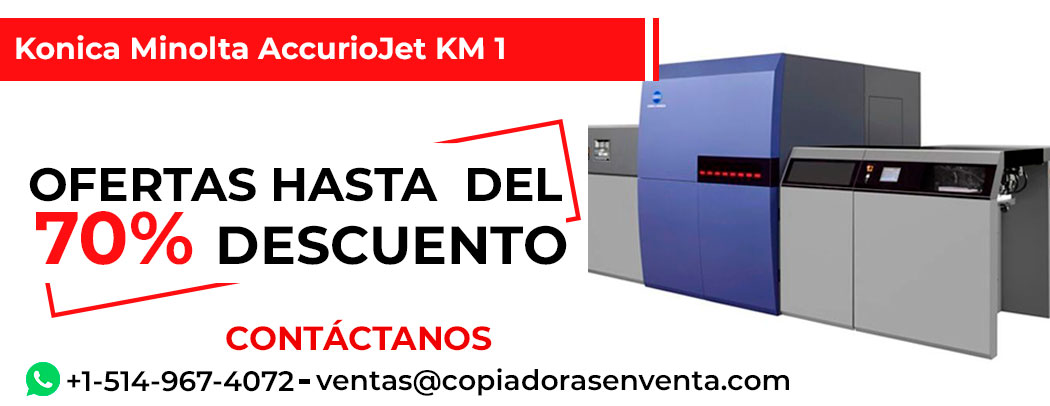 Prensa Digital a Color Konica Minolta AccurioJet KM-1 en venta