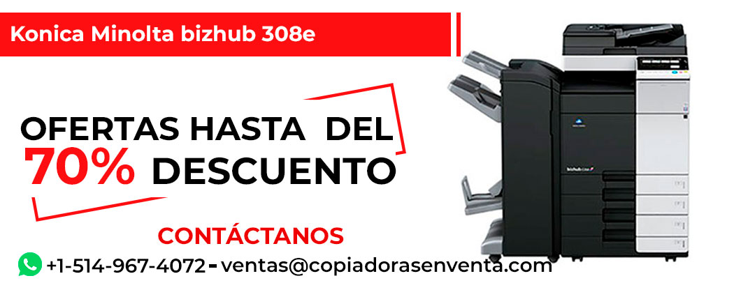 Fotocopiadora a Blanco y Negro Konica Minolta bizhub 308e en venta