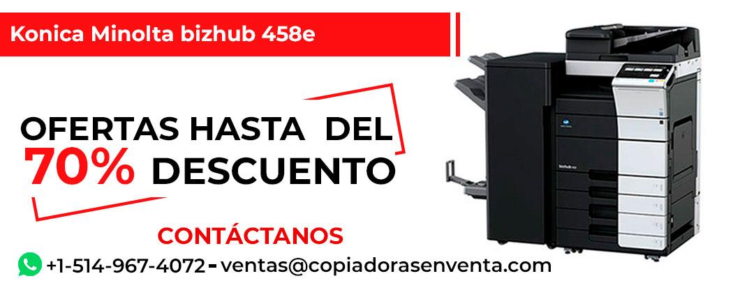 Fotocopiadora a Blanco y Negro Konica Minolta bizhub 458e en venta