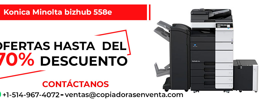 Fotocopiadora a Blanco y Negro Konica Minolta bizhub 558e en venta