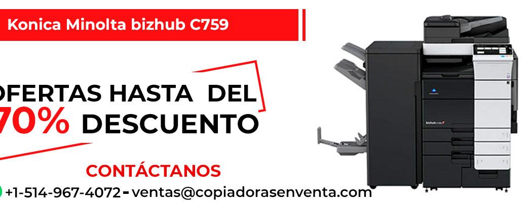 Fotocopiadora a Color Konica Minolta bizhub C759 en venta