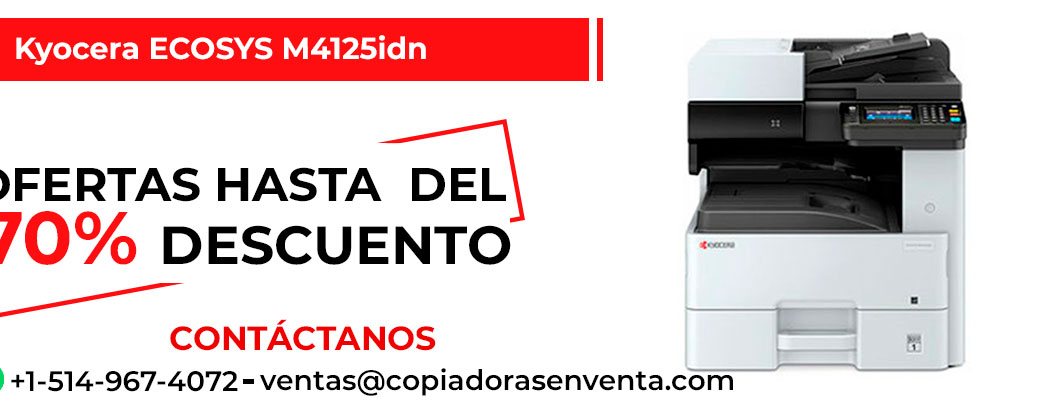 Fotocopiadora a Blanco y Negro Kyocera ECOSYS M4125idn en venta