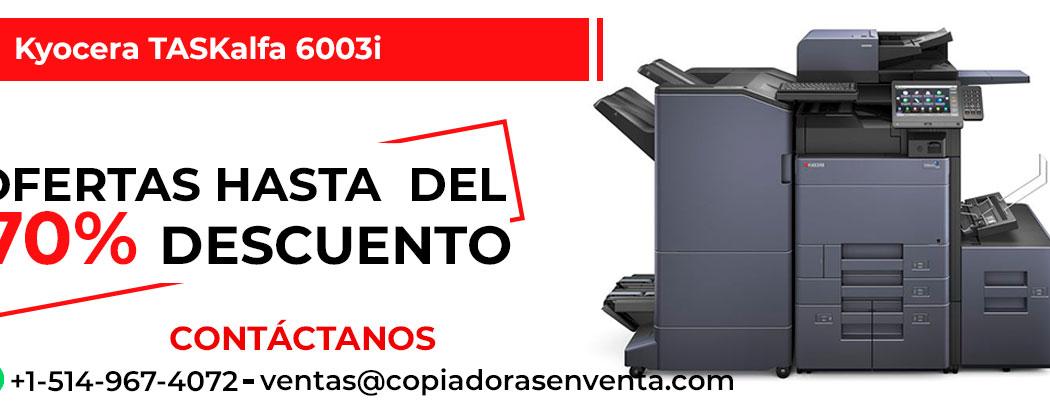 Fotocopiadora a Blanco y Negro Kyocera TASKalfa 6003i en venta
