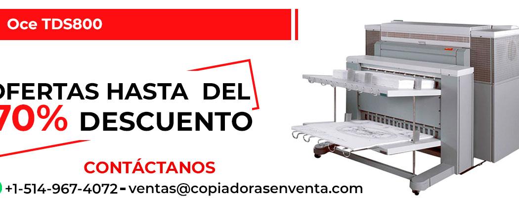 Impresora de Gran Formato a Blanco y Negro Oce TDS800 en venta