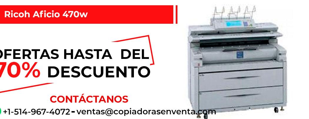 Impresora de Gran Formato a Blanco y Negro Ricoh Aficio 470w en venta