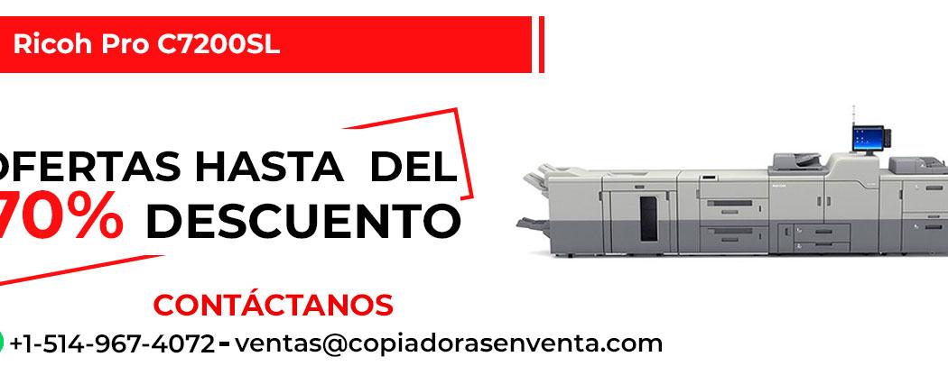 Prensa Digital a Color Ricoh Pro C7200SL en venta