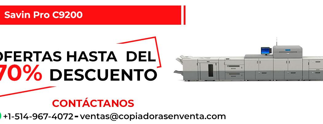 Prensa Digital a Color Savin Pro C9200 en venta