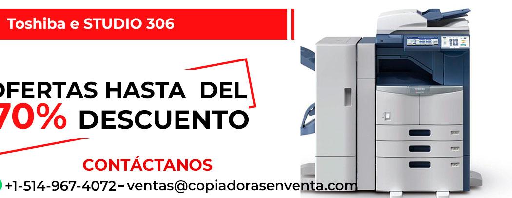 Fotocopiadora a Blanco y Negro Toshiba e-STUDIO 306 en venta