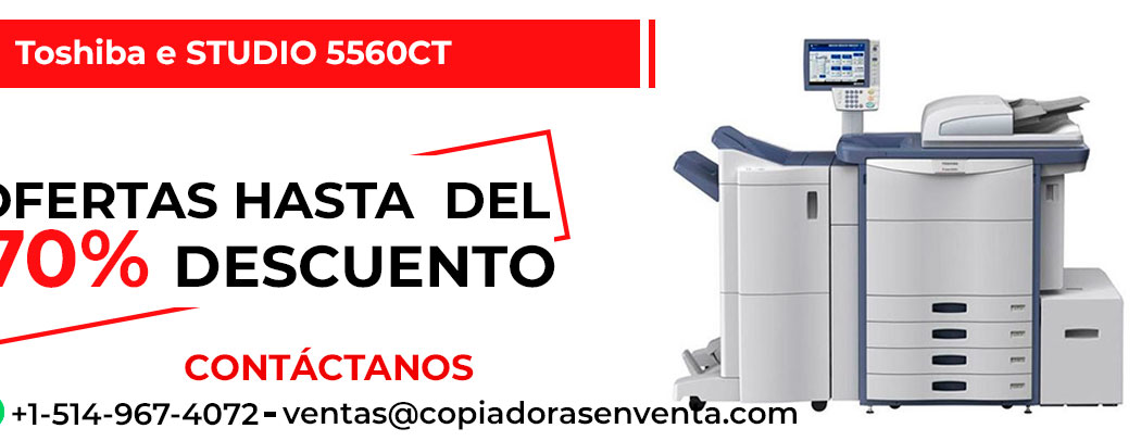 Fotocopiadora a Color Toshiba e-STUDIO 5560CT en venta