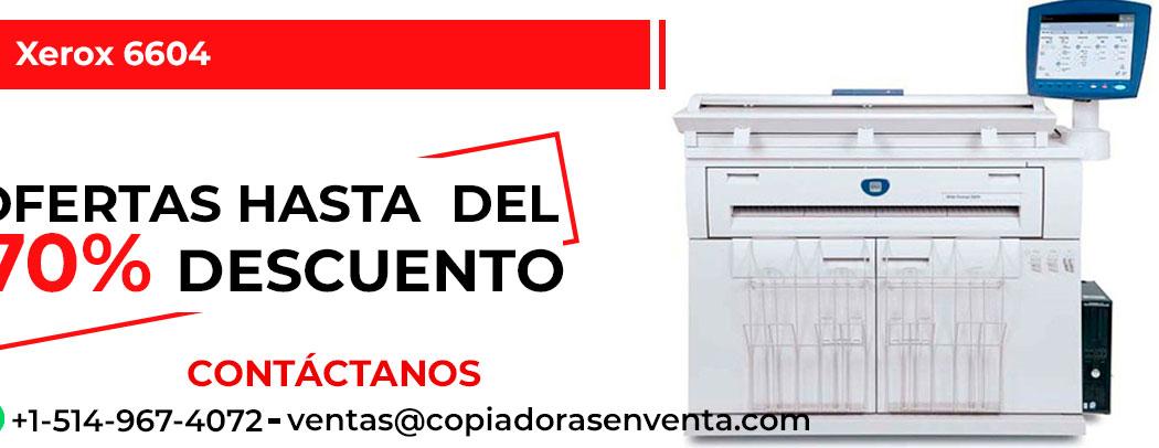 Impresora de Gran Formato a Blanco y Negro Xerox 6604 en venta