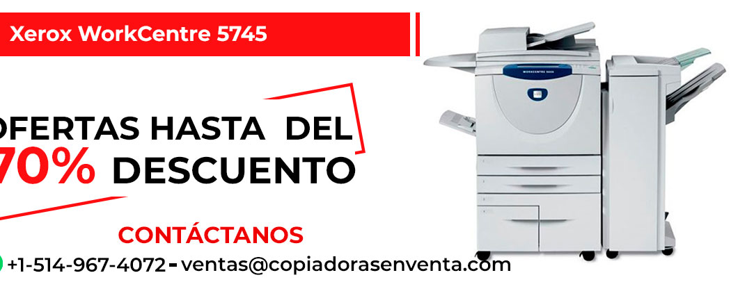 Fotocopiadora a Blanco y Negro Xerox WorkCentre 5745 en venta