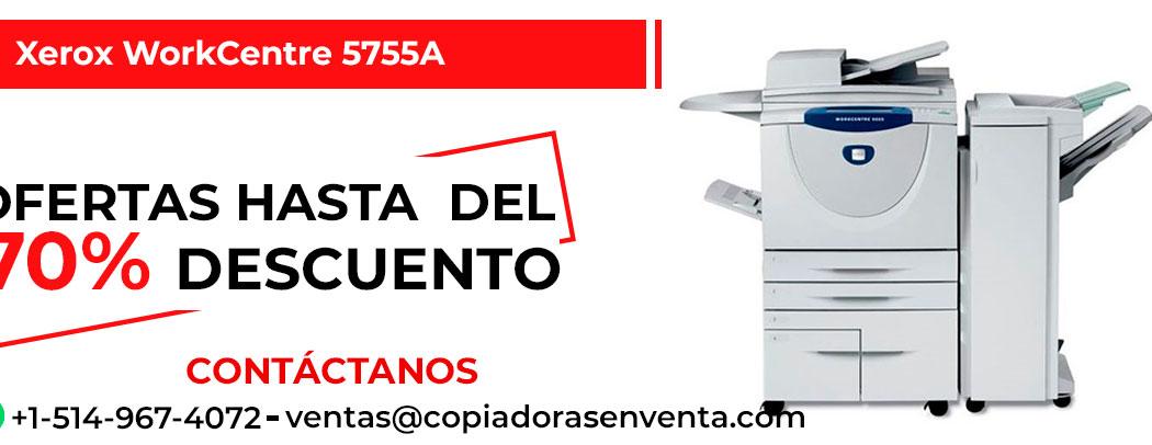 Fotocopiadora a Blanco y Negro Xerox WorkCentre 5755A en venta